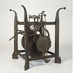 Mechanism of turret clock with verge escapement (inv. 3585)