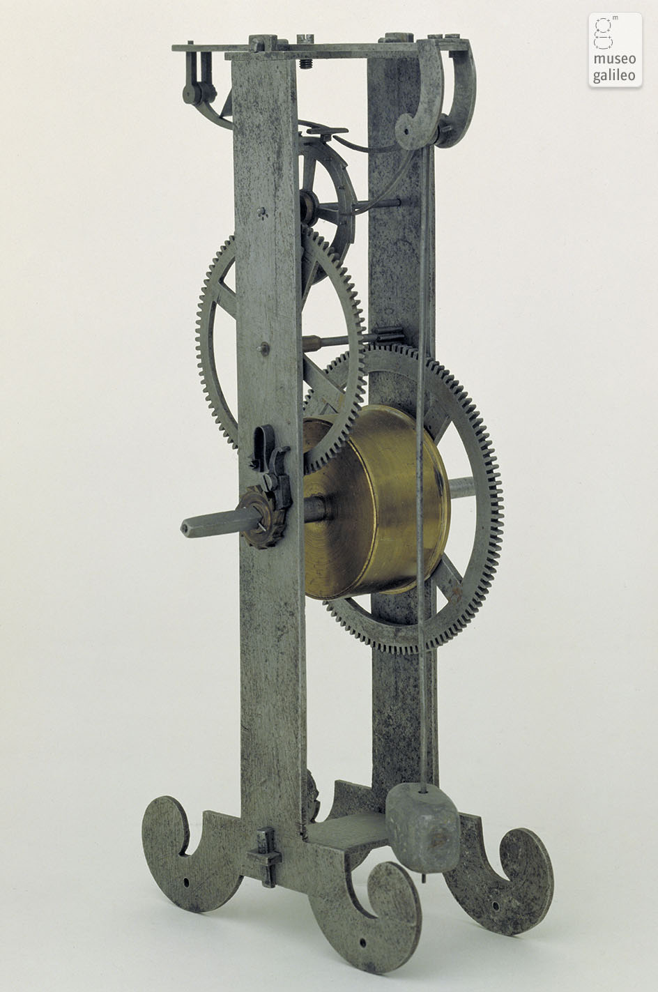 Model of the application of the pendulum to the clock (Inv. 3450)