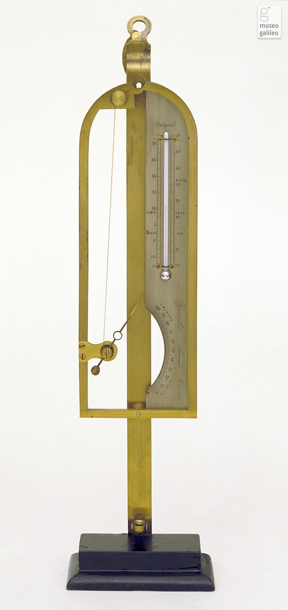 Museo Galileo - Enlarged image - Hair hygrometer (Inv. 3708)