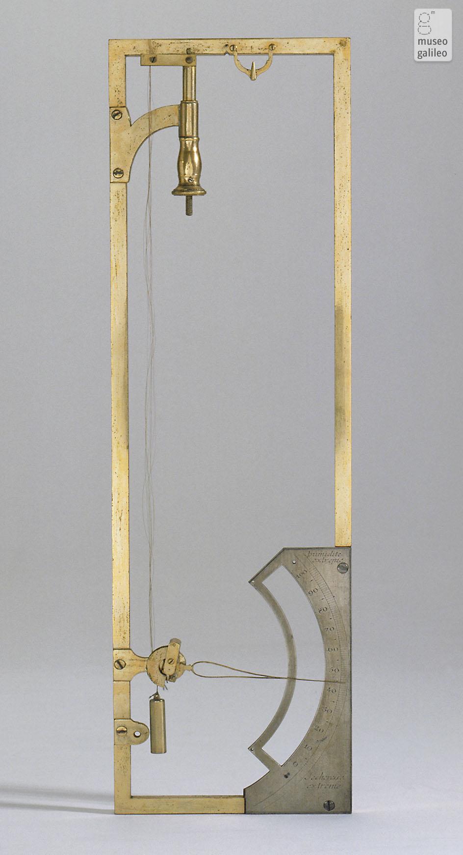 Museo Galileo Enlarged Image Saussure Hair Hygrometer